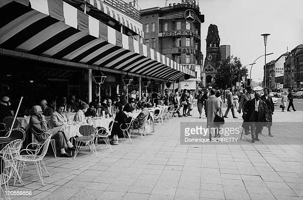 Street scene on the Kurfurstendamm avenue in Berlin Germany in 1961