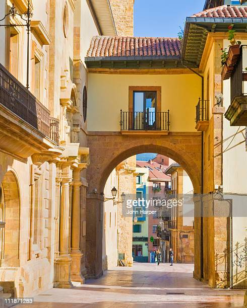 street scene, oviedo, asturias, spain - oviedo stock pictures, royalty-free photos & images