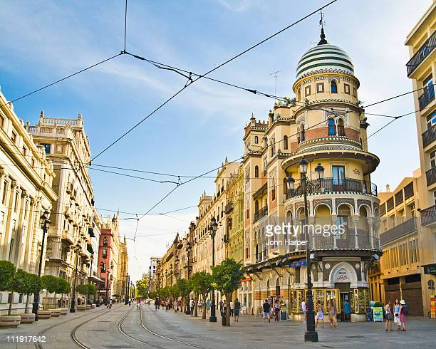 street scene, seville, andulucia, spain - seville stock pictures, royalty-free photos & images