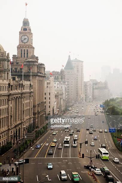 Street scene, the Bund, Shanghai, China