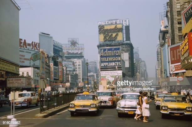 Street Scene Times Square New York City New York USA July 1961