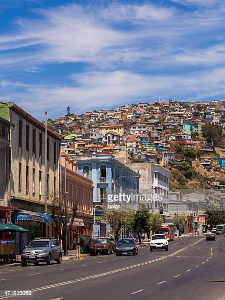 ストリートシーンヴァルパライソ,チリ - ビーニャデルマル ストックフォトと画像