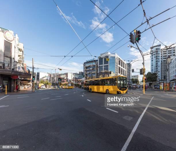 street scene, wellington new zealand - ニュージーランド首都 ウェリントン ストックフォトと画像