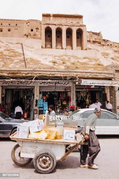 Street scene with Arbil Citadel