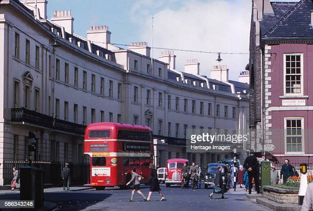 Street Scene, York, 1958. Historic walled city founded by the Romans as Eboracum in 71 AD providin the backdrop to major political events in England...