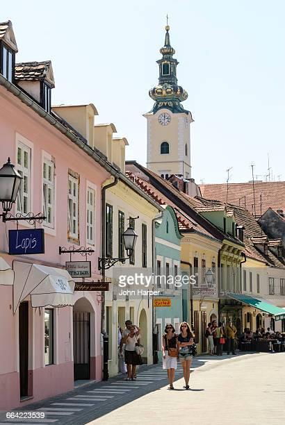 street scene, zagreb, croatia - zagreb stock-fotos und bilder