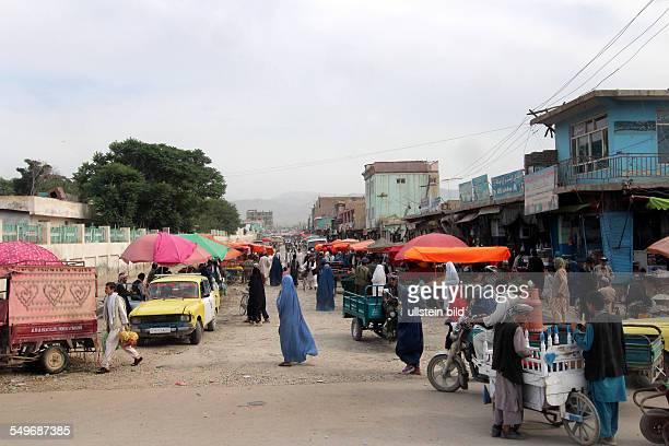 street scenery in MazareSharif market street