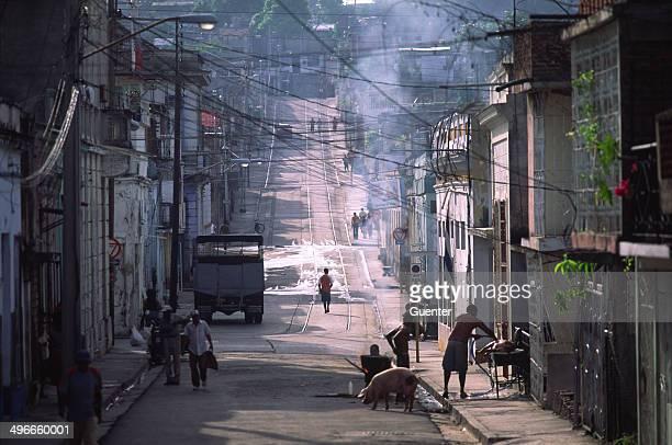 Street scenery in Santiago de Cuba