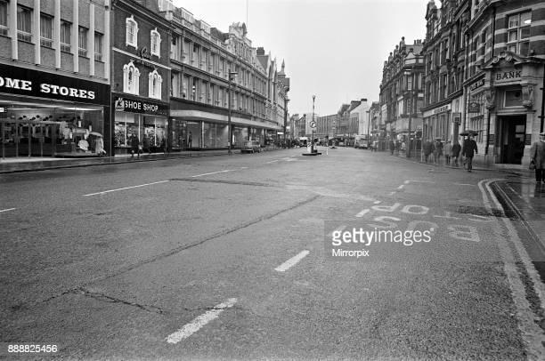 Street scenes Broad Street and Friar Street Reading Berkshire November 1970