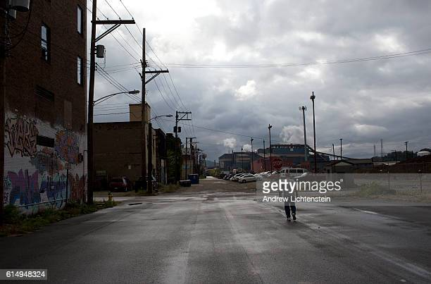Street scenes from the historical steel mill town of Braddock Pennsylvania on October 13 2016 Braddock was once a thriving center of America's steel...