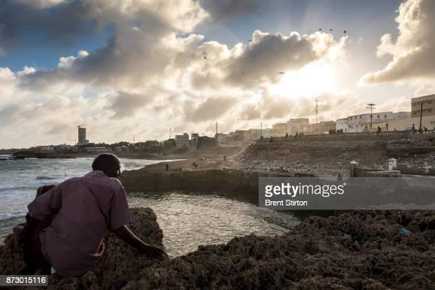 Street scenes in Mogadishu close to the sea.