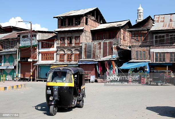 Street scenes in Srinagar on August 09 2009 in Srinagar Kashmir State IndiaThe Dal Lake in Kashmir is a lake in Srinagar the summer capital of Jammu...