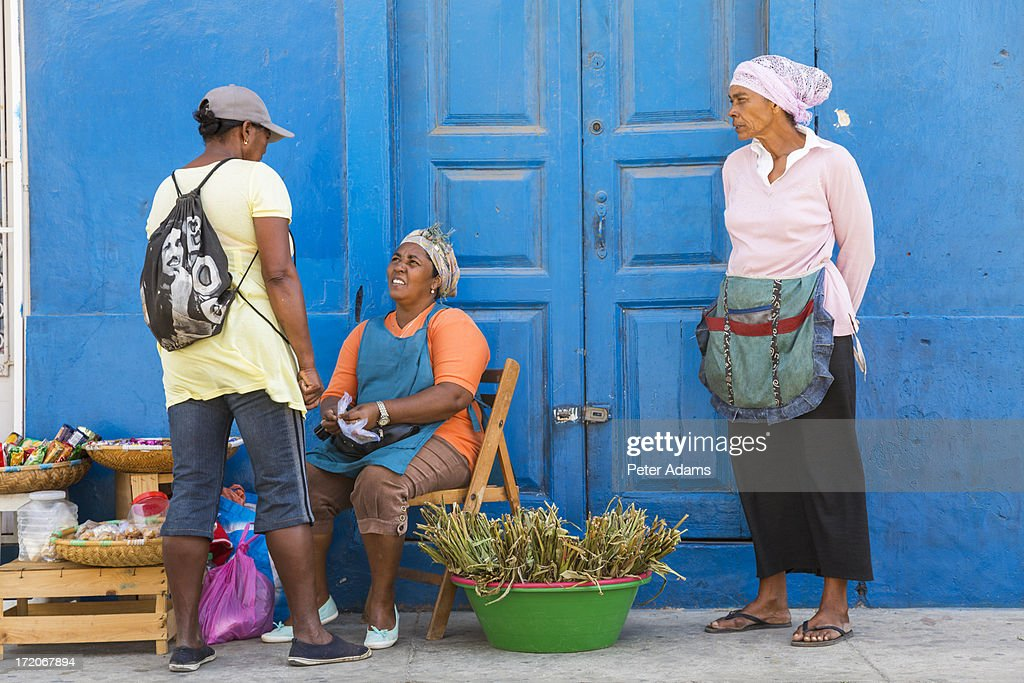 Street seller, Mindelo, Sao Vicente, Cape Verde : Stock Photo