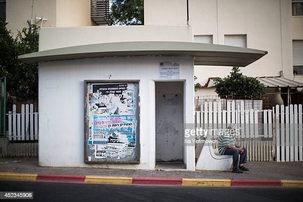 Street shelter that was built for people to take cover during rocket fire from the Gaza strip seen on July 18, 2014 in Sderot, Israel. Late last...