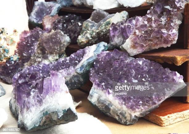 Street shop selling minerals