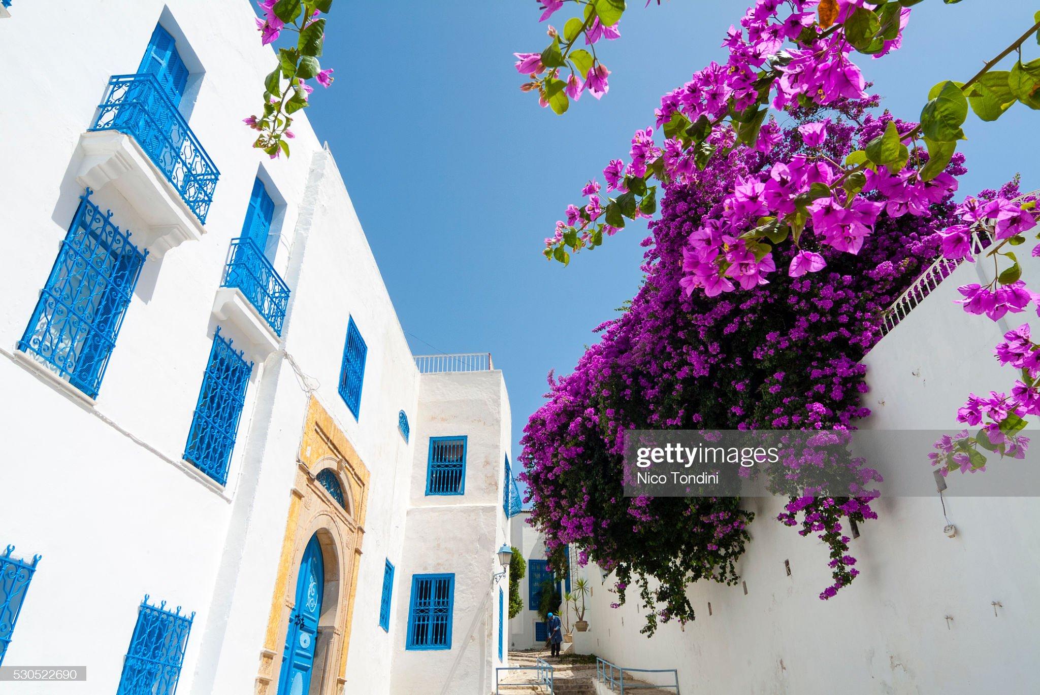 Street, Sidi Bou said, Tunisia, North Africa, Africa : Foto stock