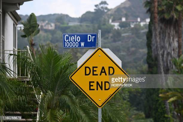 A street sign for Cielo Drive is seen August 7 2019 in Beverly Hills California The gruesome twoday murder spree orchestrated by Charles Manson which...