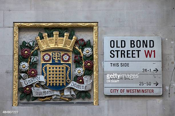 A street sign for Old Bond Street is seen on April 15 2014 in London England A report by property advisers Colliers International has listed Old Bond...