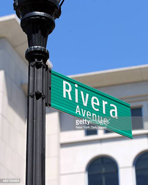 Street sign honoring former Yankee relief pitcher and future Hall of Fame Mariano Rivera unveiled in the Bronx Rivera was on hand for the unveiling...