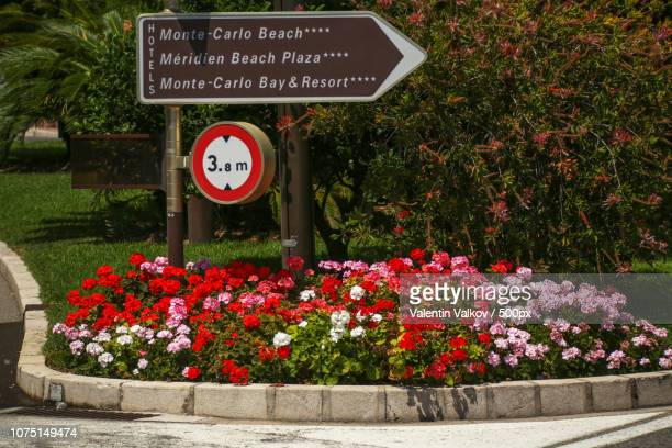 street sign in monte carlo, monaco - monte carlo stock pictures, royalty-free photos & images