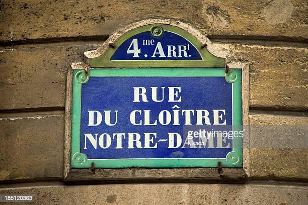 Panneau de rue à Paris