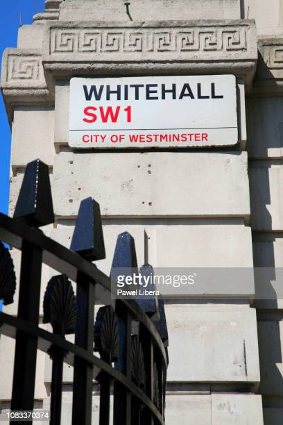 Street sign in Whitehall London United Kingdom