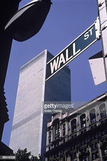 Street sign of Wall Street