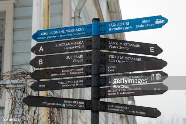 Street Sign on Suomenlinna