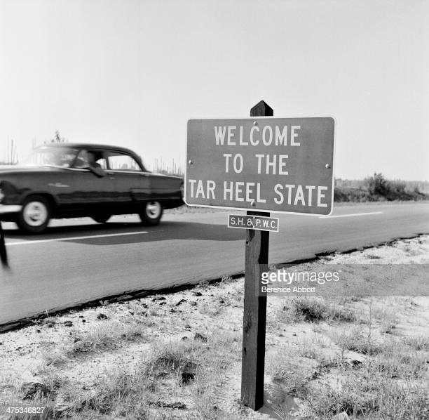 A street sign on the US 1 North Carolina United States 1954