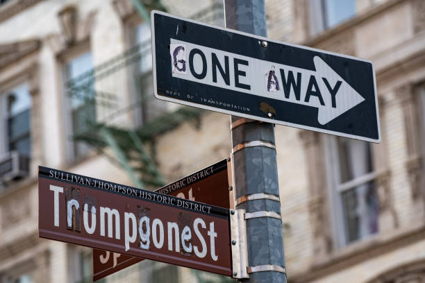 NY: New York City Street Sign Reflects End Of Trump Administration