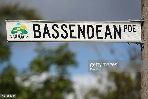 Street signage is pictured near Rolf Harris' family's former residence on Bassendean Parade on July 2 2014 in Bassendean Australia Harris has been...