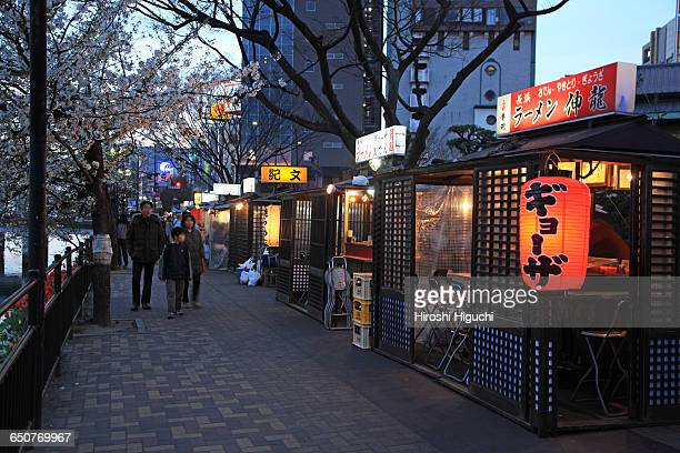 street stalls, fukuoka, japan - 福岡県 ストックフォトと画像