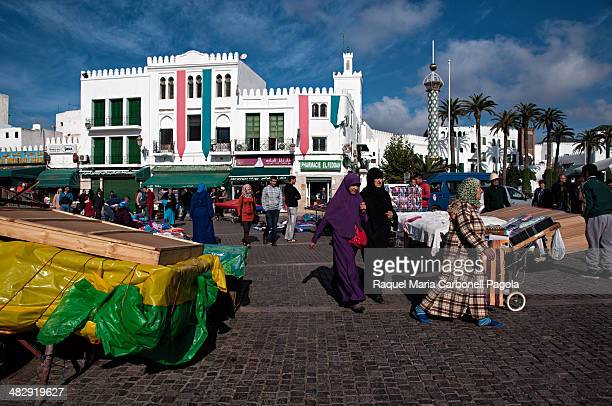 Street stalls in main square Place Hassan II