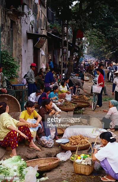 Street stalls in the Old Quarter of Hanoi