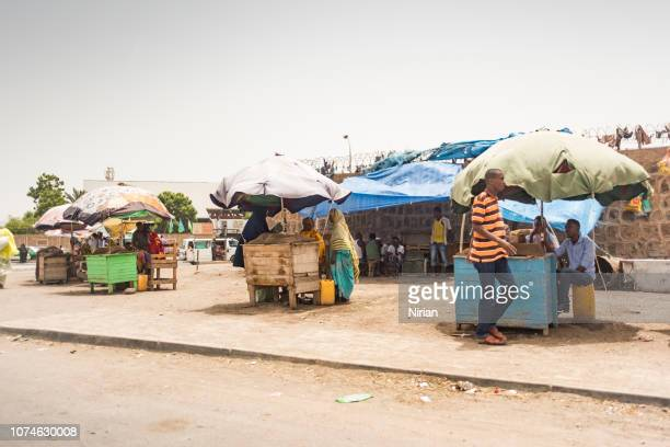 street stalls with khat - djibouti stock pictures, royalty-free photos & images