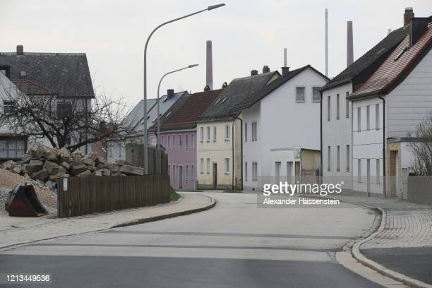 Street stands empty in the town center following the imposition of a dusk-to-dawn curfew for all residents on March 19, 2020 in Mitterteich, Germany....