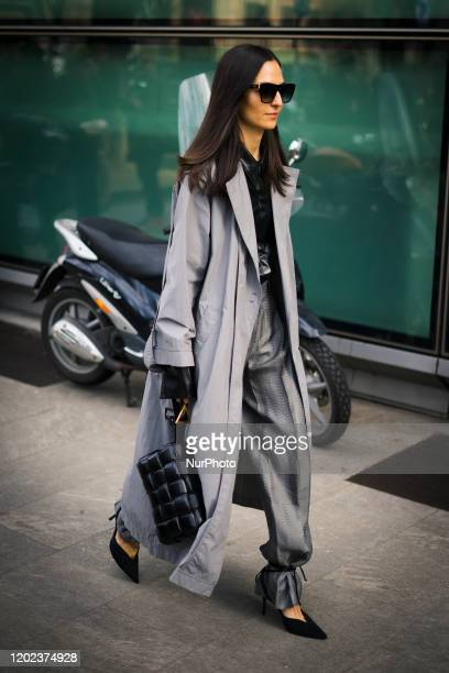 Street Style At Armani Fashion Show: February 20 - Milan Fashion Week Fall/Winter 2020-2021