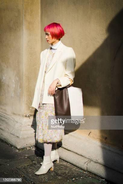 Street Style At Etro Fashion Show: February 21 - Milan Fashion Week Fall/Winter 2020-2021 21 February 2020, Milan, Italy
