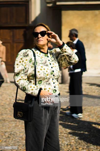 Street Style at Etro Fashion Show: September 20 - Milan Fashion Week Spring/Summer 2020 20 September 2019, Milan, Italy