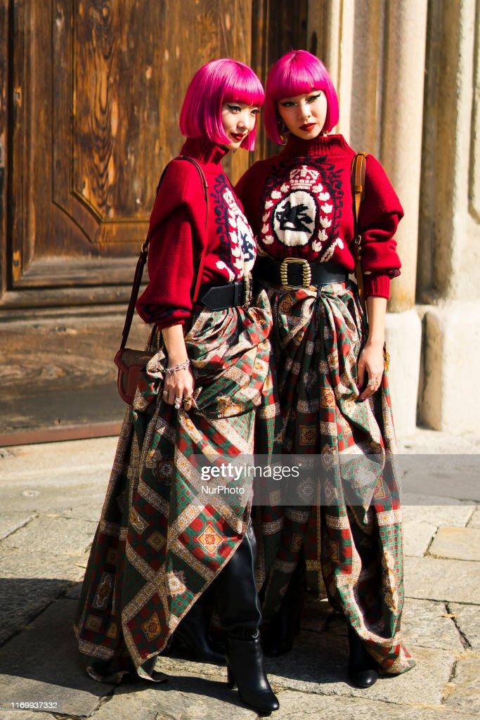 Street Style At Etro Fashion Show: September 20 - Milan Fashion Week Spring/Summer 2020 : News Photo