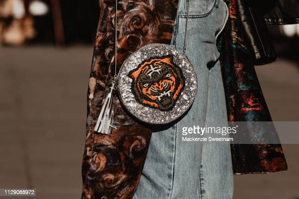 Street Style at Melbourne Fashion Festival on March 6 2019 in Melbourne Australia