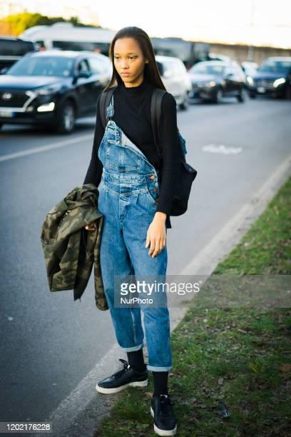 Street Style at Prada fashion show: February 20 - Milan Fashion Week Fall/Winter 2020-2021 20 February 2020, Milan, Italy