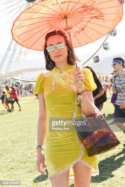 Street Style At The 2018 Coachella Valley Music And Arts Festival Weekend 1 on April 14 2018 in Indio California