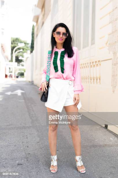 Street style during the 71st annual Cannes Film Festival on May 11 2018 in Cannes France