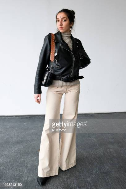 Street Style in Mercedes Benz Fashion Week Madrid Autumn/Winter 2020-21 on February 2, 2020 in Madrid, Spain