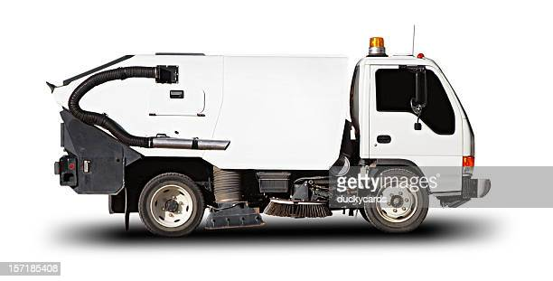 street sweeper (with clipping path) - street sweeper stock pictures, royalty-free photos & images