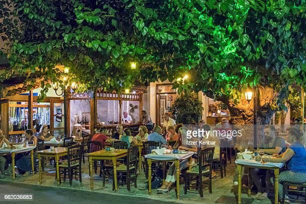 Street Taverna in Karlovasi,Samos island, Greece