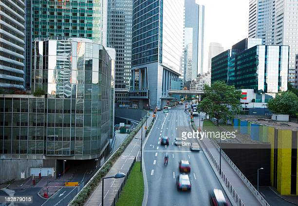 Street Through Business District, La Defense, Paris, France