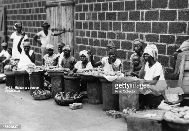 Street traders Freetown Sierra Leone 20th century