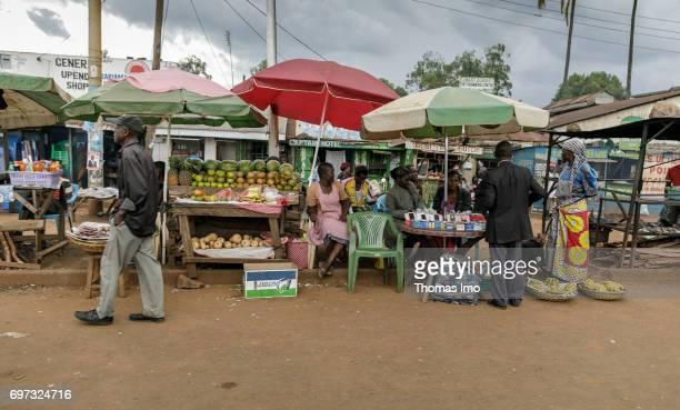 Street traders in Kakamega County on May 16 2017 in Kakamega County Kenya